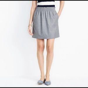 J. Crew Factory Paper Bag Waist City Mini Skirt